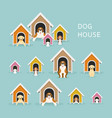 dogs in doghouse or kennel vector image vector image