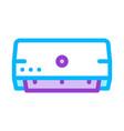 domestic air conditioner thin line icon vector image