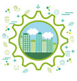 eco friendly city design vector image