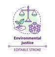 environmental justice concept icon equitable vector image