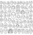 faces of people - seamless background vector image vector image