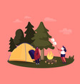 female characters spending time on picnic in vector image vector image