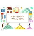 Financial Wealth Horizontal Banner vector image