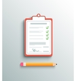 Flat design delivery signature clipboard vector image vector image