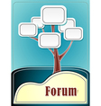 Forum tree or concept information marine backgroun vector image vector image