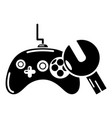 gamepad repair icon simple style vector image vector image