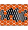 Geometric pattern of hexagons metal background vector image