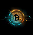 gold bitcoin mining business symbol internet vector image