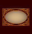 golden vintage frame template vector image
