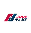 good name emblem vector image vector image