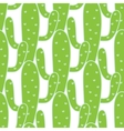 Green cactuses seamless pattern vector image vector image