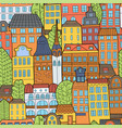 hand drawn doodle houses vector image