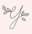 handwritten letter y monogram or logo brand vector image vector image