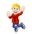 happy man jumping vector image