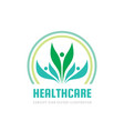 healthcare - business logo template concept vector image vector image