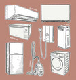 home appliances set household kitchen vector image