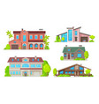 home buildings real estate house and villa vector image vector image