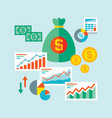 infographic business finance concept vector image