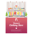 interior background of women clothing store vector image vector image