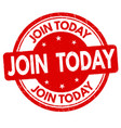 join today sign or stamp vector image vector image