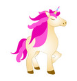 majestic cute unicorn cartoon character fantasy vector image