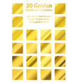 many golden realistic metal gradients collection vector image vector image