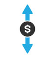 money exchange icon in trendy flat style isolated vector image