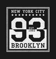 new york balck and white print vector image vector image