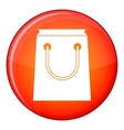 Paper bag icon flat style vector image vector image