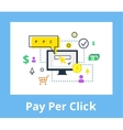 Pay per click Internet vector image
