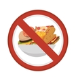 prohibited fast food sign vector image