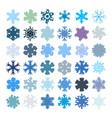 random grainy snowflakes set vector image