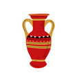 red ancient vase symbol traditional egyptian vector image