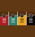 set labels for coffee beans vector image