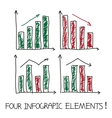 Set of our infographic elements vector image vector image