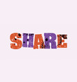share concept colorful stamped word vector image vector image
