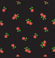 small tiny red flowers scattered on dark vector image vector image