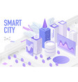 smart city isometric technology devices with vector image vector image