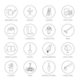 Thin Line Icons Agricultural Tool vector image vector image