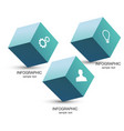 three cubes branding icon concept composition for vector image vector image