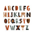 trendy latin font or decorative english alphabet vector image vector image