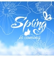 Typographic Design Lettering Spring design with vector image vector image