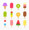 variety ice cream set vector image vector image