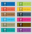 vegetarian cuisine icon sign Set of twelve vector image vector image