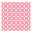 Vintage pattern with white decorations on pink vector image vector image