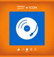 vinyl record turntable icon vector image vector image
