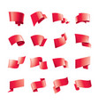 waving red flag on a white background vector image