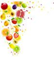 whirlwind of juicy fruit vector image vector image