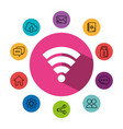 wifi signal symbol with social media concept vector image
