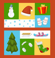 winter holiday time set of banners vector image vector image